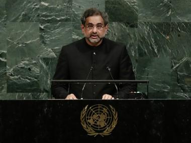 Pakistan's Shahid Khaqan Abbasi at UNGA says wont's be scapegoat in Afghan war, expresses concern over US onus