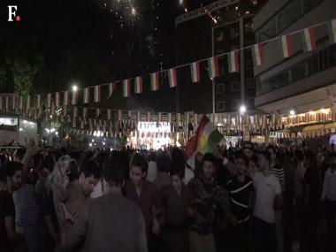 Watch: Iraqi Kurds celebrate historic independence referendum in Arbil