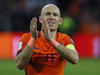 FIFA World Cup 2018 qualifiers: Arjen Robben to retire from international football after Netherlands fail to qualify