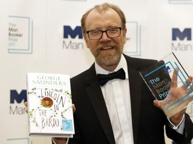 US author George Saunders win 2017 Man Booker prize for novel on death of Abraham Lincoln's son