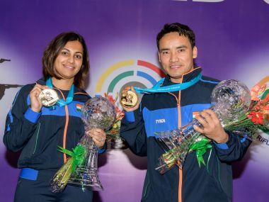 ISSF World Cup Final 2017: Jitu Rai and Heena Sidhu hand India first gold medal at year-ending tournament