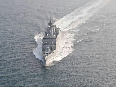 Indigenously built anti-submarine warship INS Kiltan commissioned into Indian Navy at Visakhapatnam