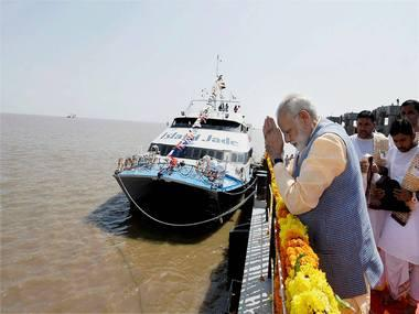 Narendra Modi inaugurates ferry service in poll-bound Gujarat, slams Opposition's criticism of GST, demonetisation
