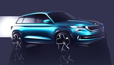 2016 <b>Geneva</b> Auto Show: Six-seater Skoda VisionS design study showcased
