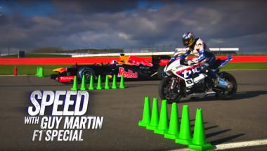 Video worth watching: Guy Martin on a BMW S 1000RR vs David Coulthard in the Red Bull Racing RB8