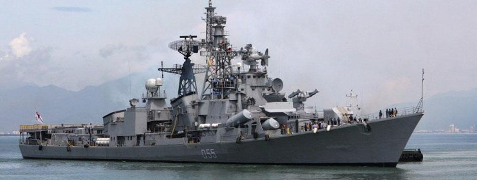 Gas leak on warship INS Kolkata kills naval officer