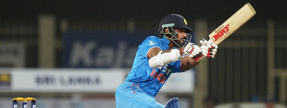 Dhawan's maiden T20I fifty helps India bounce back after Pune horror against Sri Lanka