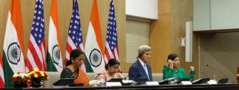 US with India on Pakistan-backed terror: John Kerry at press meet with Sushma Swaraj