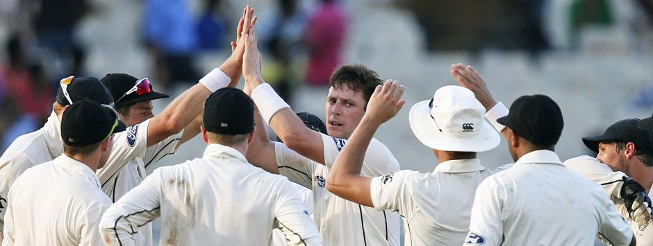 India vs New Zealand, day 1: Black Caps' perseverance pays off on variable Eden Gardens pitch