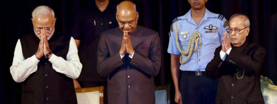 President's swearing-in ceremony LIVE: Ram Nath Kovind meets Pranab Mukherjee, leaves for Parliament