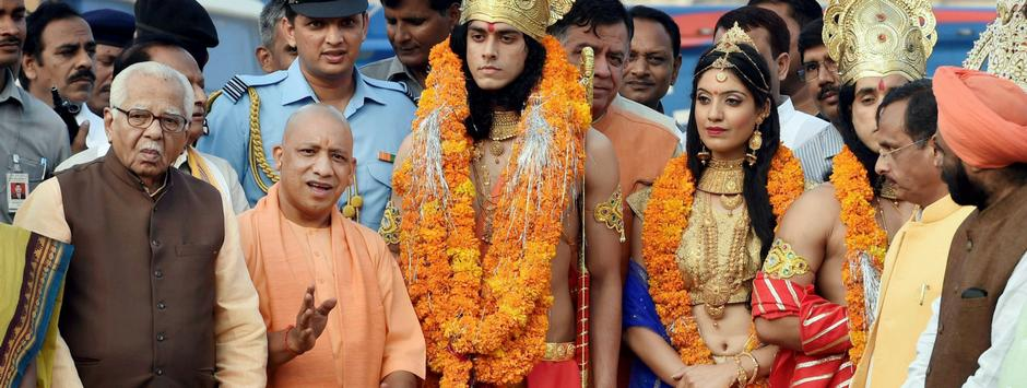 Image result for 'Ram Rajya' as Uttar Pradesh witnesses 'historic' Deepotsav