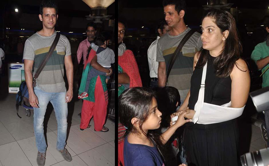 Bollywood stars head back to the city after their christmas holidays