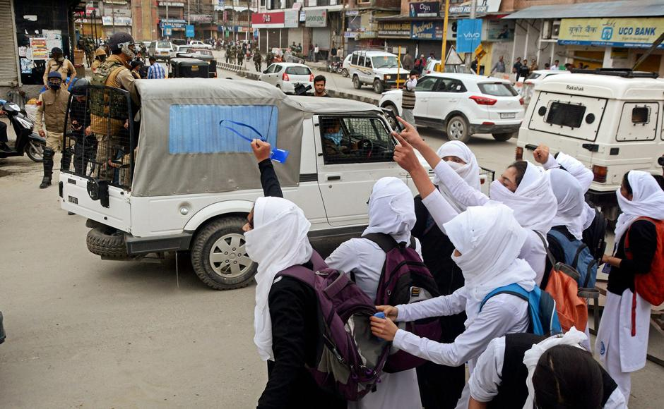 Kashmir stares at another summer of unrest as students come out on streets against Indian forces