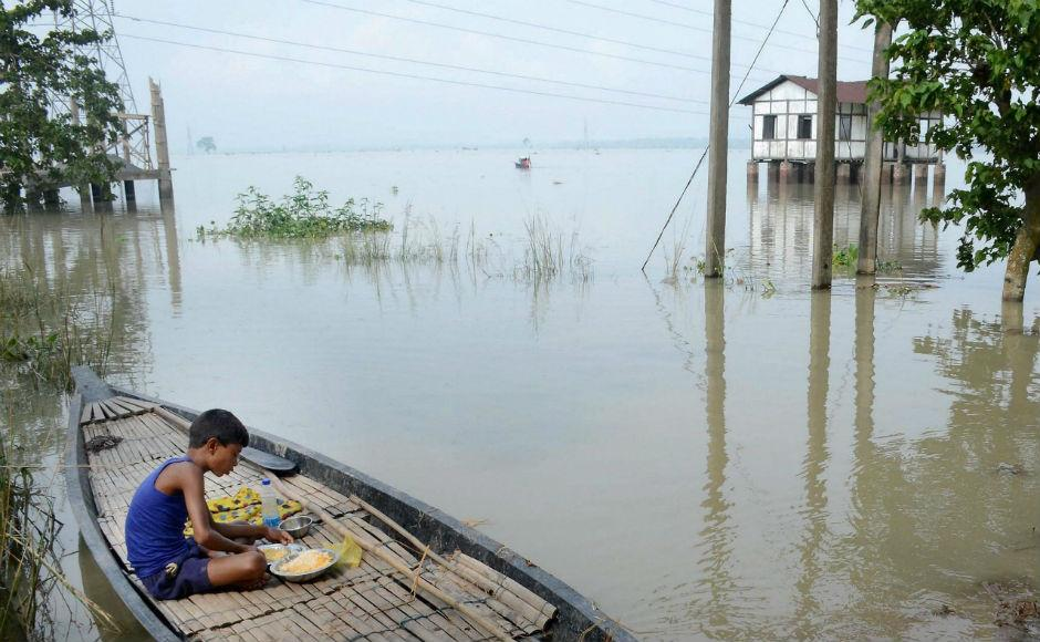 Lakhs affected in Assam, Bihar as flood fury continues
