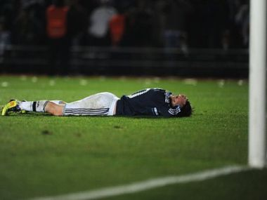 Argentine forward Lionel Messi can't hide his disappointment after the loss against Uruguay. AFP