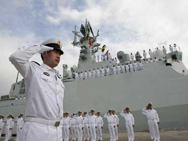 Chinese Naval Personnel Reuters
