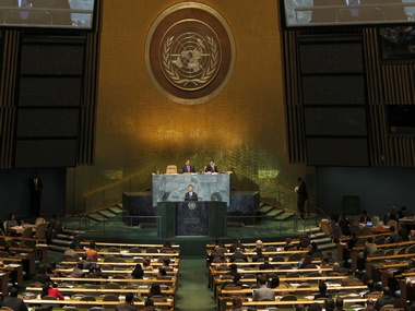 United Nations General Assembly. Reuters