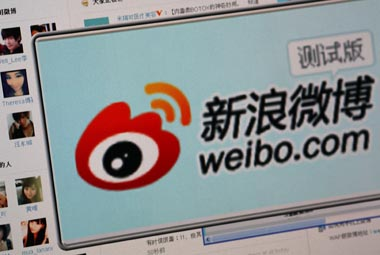 File image of Weibo. Reuters