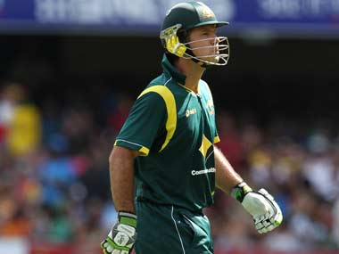 Ricky Ponting had a short stay in the middle. AP