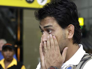 Last match of the season and Dhoni isn't fatigued at all. AP