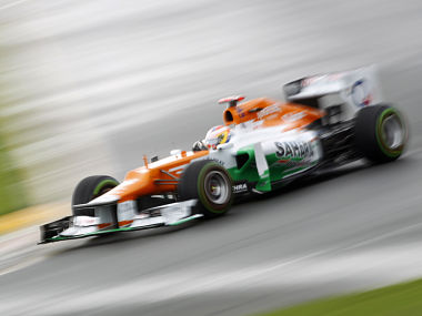 Force India Formula One driver di Resta drives during the second practice session of the Australian F1 Grand Prix at the Albert Park circuit in Melbourne. Reuters