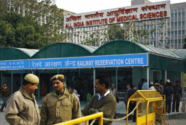 AIIMS in New Delhi. AFP