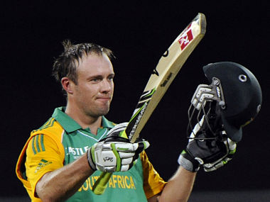 File picture of South Africa's AB De Villiers. Reuters