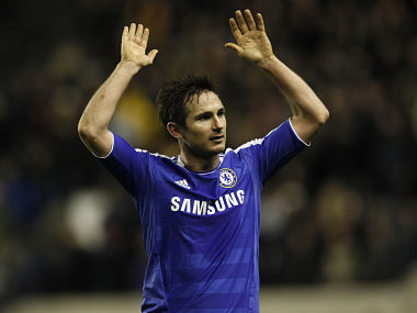 Lampard has 198 goals for Chelsea. Reuters