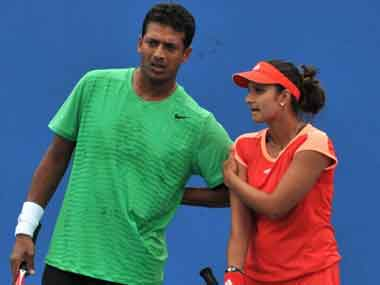 Bhupathi and Sania won the French Open recently. AFP