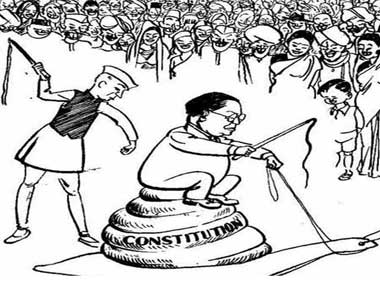 The cartoon which caused the uproar in the Parliament