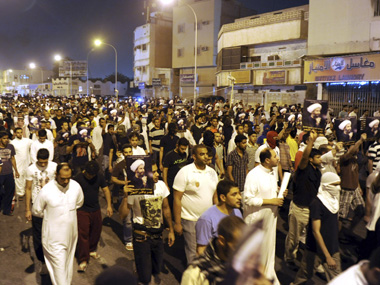 Protests in Saudi Arabia after cleric Sheikh Nimr al-Nimr was arrested. Reuters