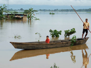 File image of floods in Arunachal. PTI