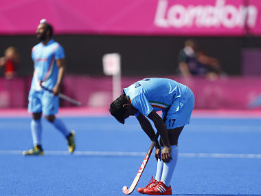 India's Mujtaba reacts after their men's Group B hockey match against New Zealand at the London 2012 Olympic Games at the Riverbank Arena on the Olympic Park. Reuters
