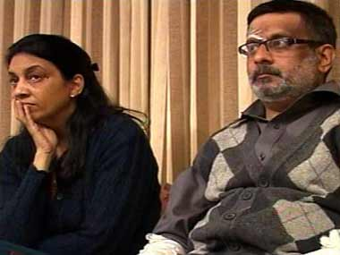 File image of Nupur and Rajesh Talwar. Image courtesy: News18