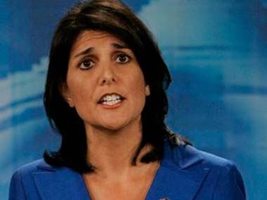 Nikki Haley in a file photo. Reuters