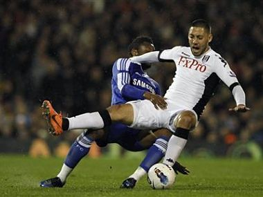 File picture of Fulham's Dempsey. Reuters