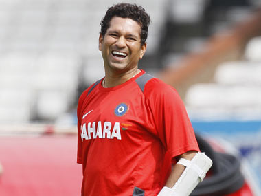 Sachin's happy. Why is that hard to believe? Getty Images