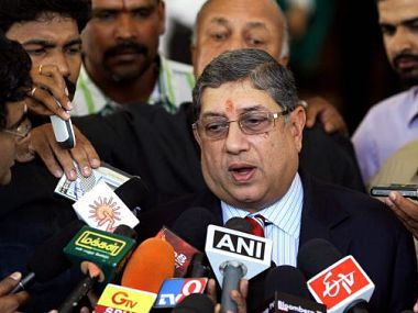 BCCI president Srinivasan has terminated the Deccan Chargers contract
