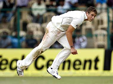 Southee has run through the Indian batting line-up. AP