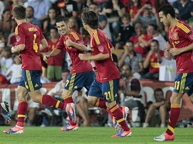David Villa is back for Spain. Reuters