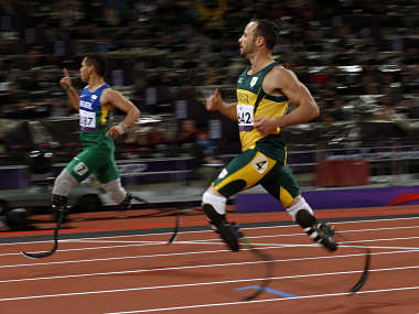Pistorius lost in the 200m final. He had broken the world record in the heats. AP