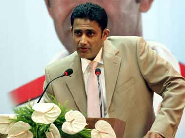 Kumble takes over from Clive Llloyd. Reuters