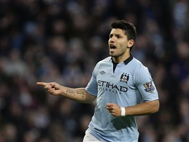 File picture of Manchester City's Sergio Aguero. AP