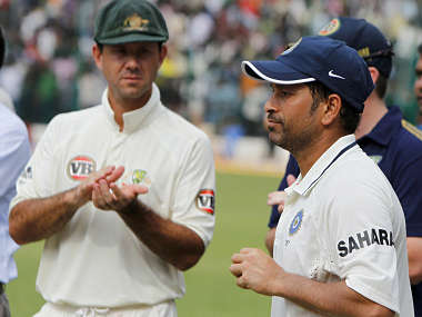 File picture of Ponting claps for India's Tendulkar. Reuters