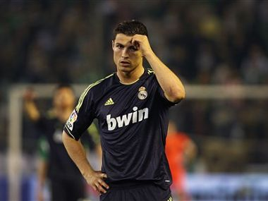 Cristiano Ronaldo is dejected after the loss. AP