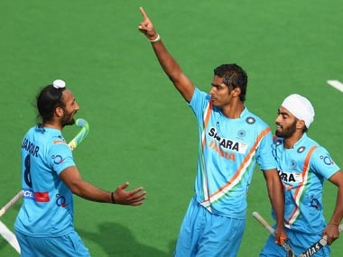 Nithin scored the winner for India. Getty Images