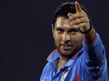 Yuvraj already has 3 wickets. AP