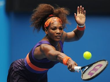 Serena was cautious to begin the match. AP