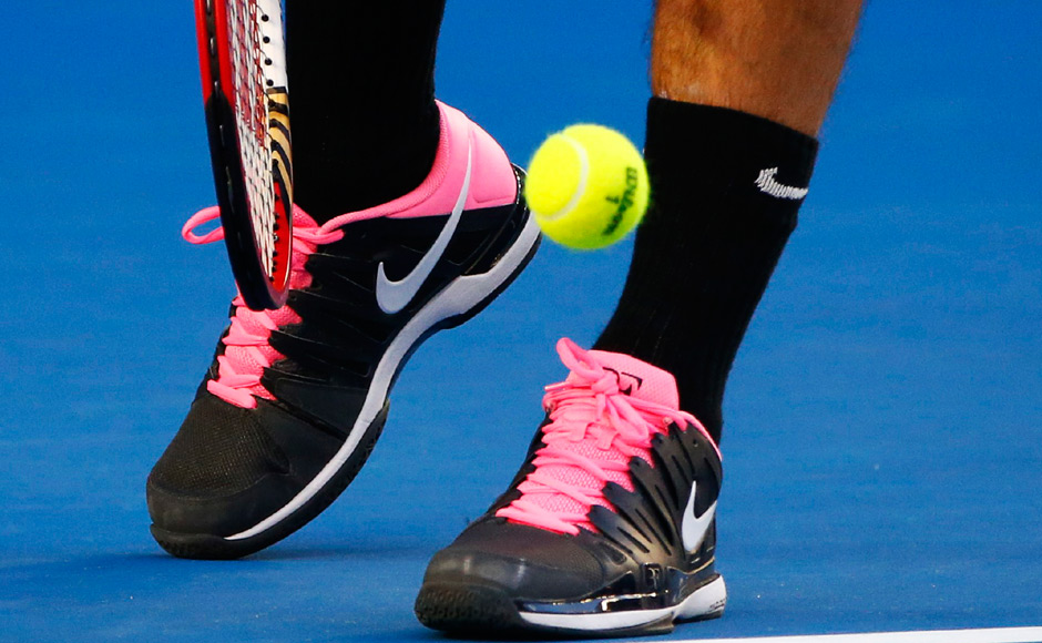 Federer's new shoes have created quite a stir. He 'played' around with the colours himself. Reuters