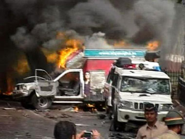 File photo of Azad Maidan violence. IBN-Live